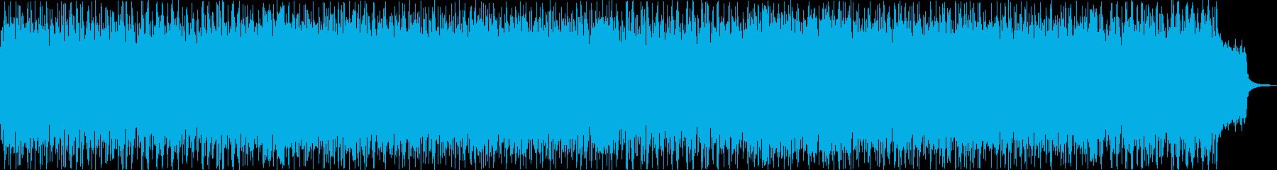 戦いがテーマのゲーム音楽風の曲の再生済みの波形