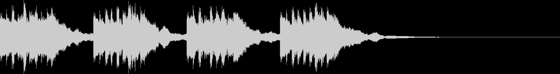 オーソドックスメロディアス着信音の未再生の波形