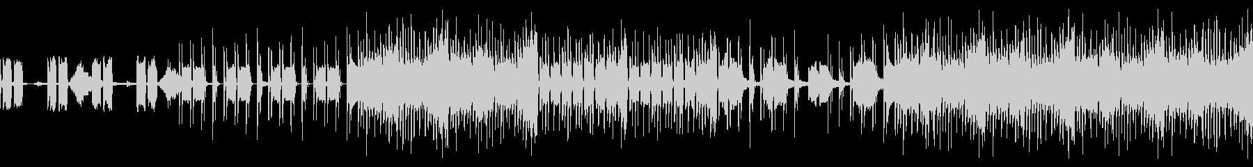 スリリングなテクノBGMの未再生の波形