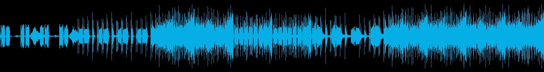 スリリングなテクノBGMの再生済みの波形