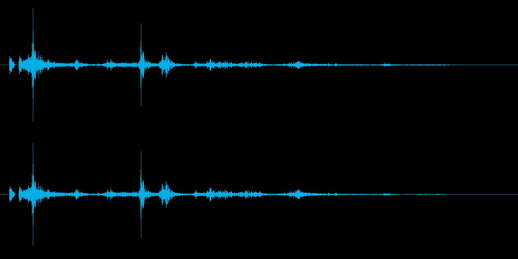 パタパタ!リアルな鳥の羽ばたき効果音2の再生済みの波形