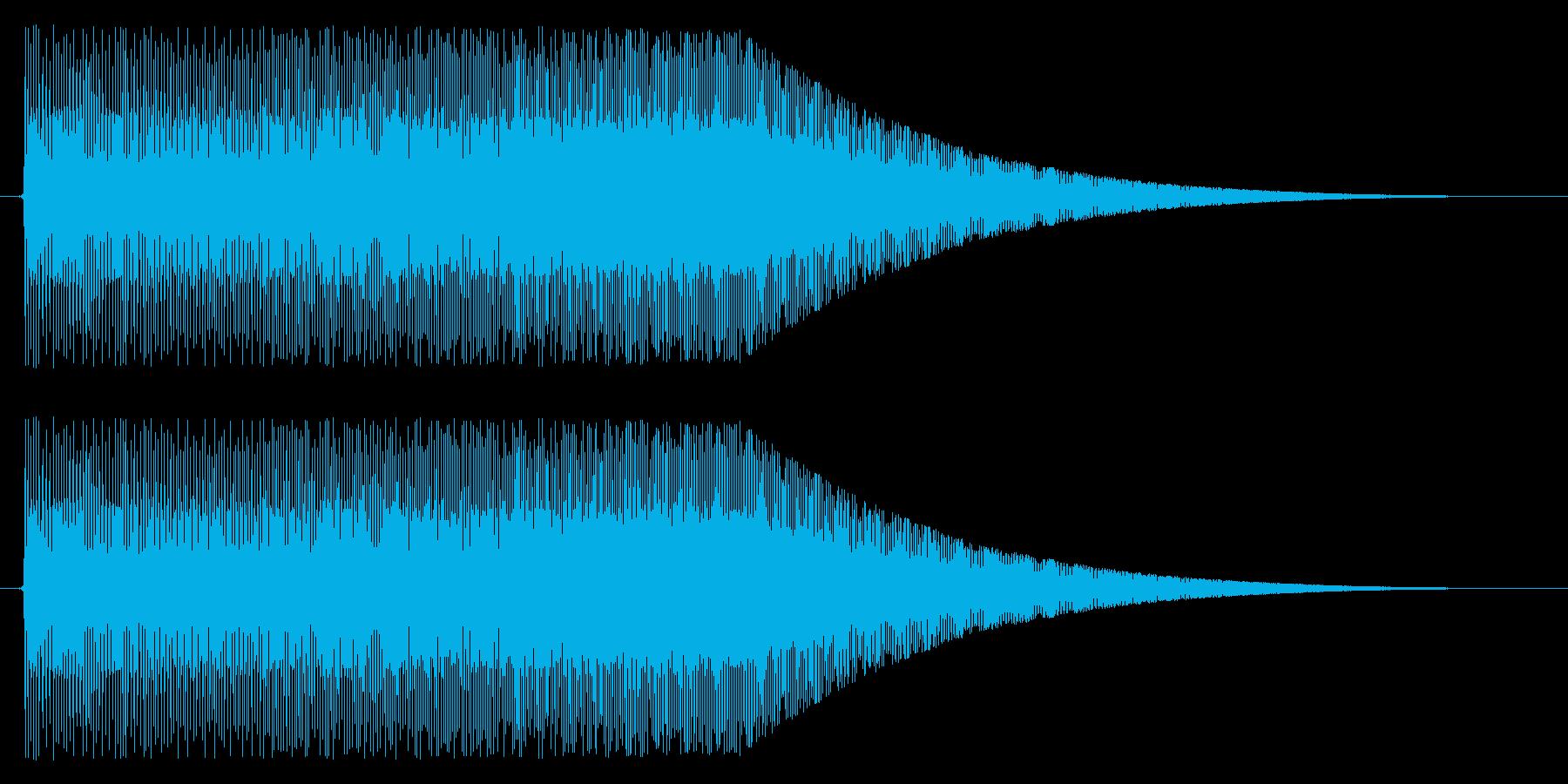 上昇/パワーアップ/メーターの再生済みの波形