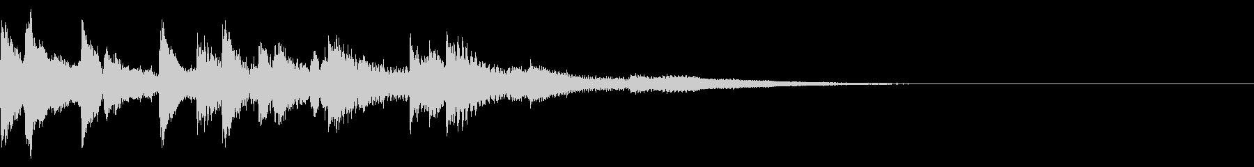 ピアノ挿入音 ブルースな場面転換 生ピの未再生の波形