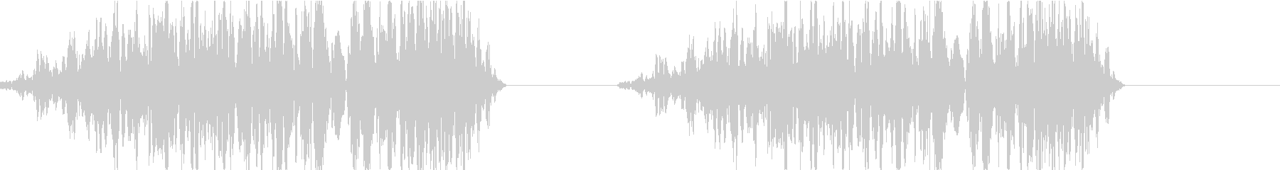 DJプレイ スクラッチ・ノイズ 204の未再生の波形