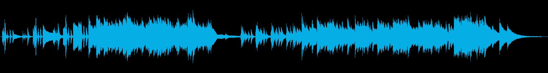 思春期の複雑な心のイメージのピアノ曲の再生済みの波形