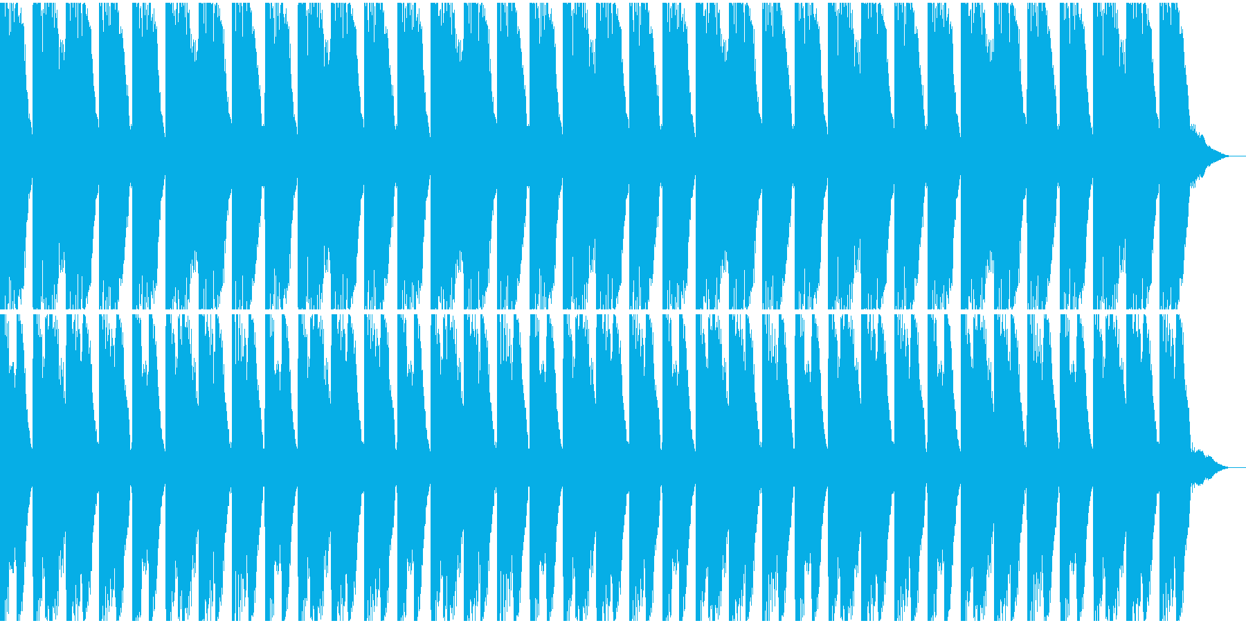 壊れたオートハープなどによる奇妙なリズムの再生済みの波形