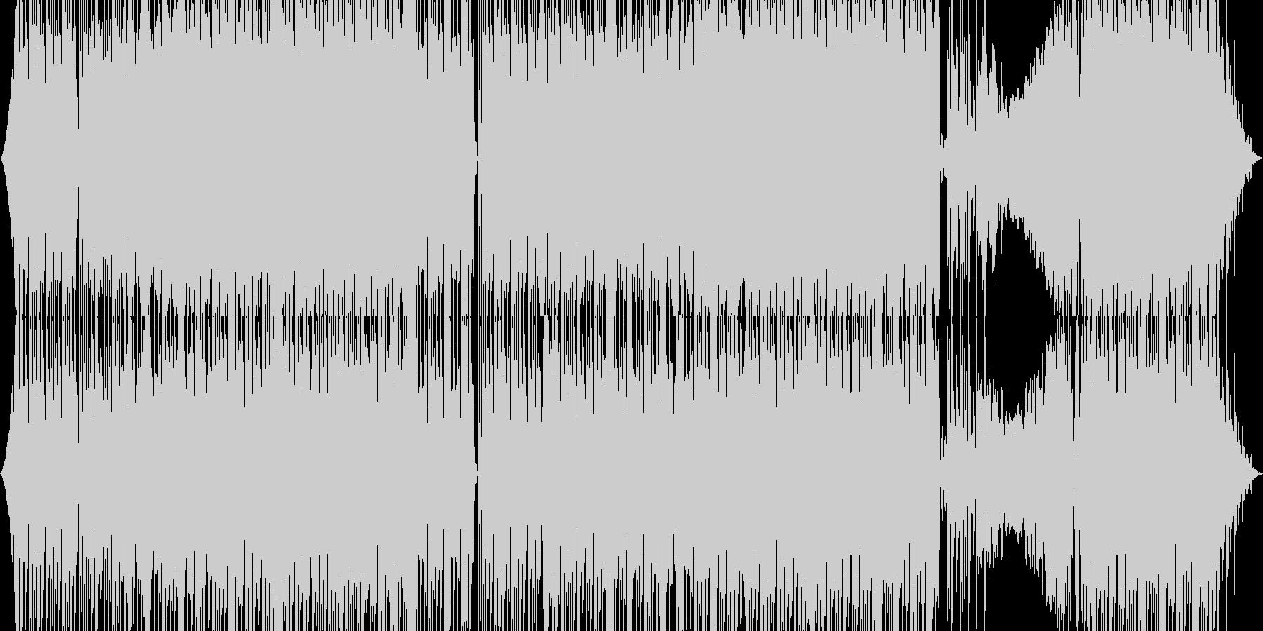 疾走系四つ打ちテクノの未再生の波形
