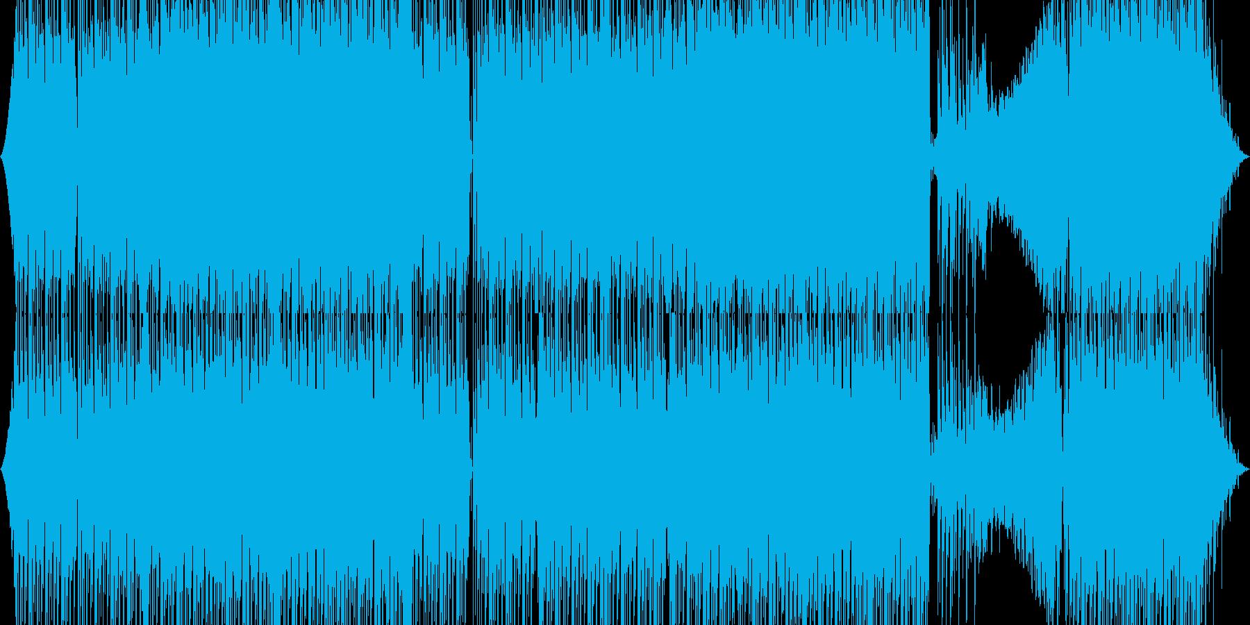 疾走系四つ打ちテクノの再生済みの波形