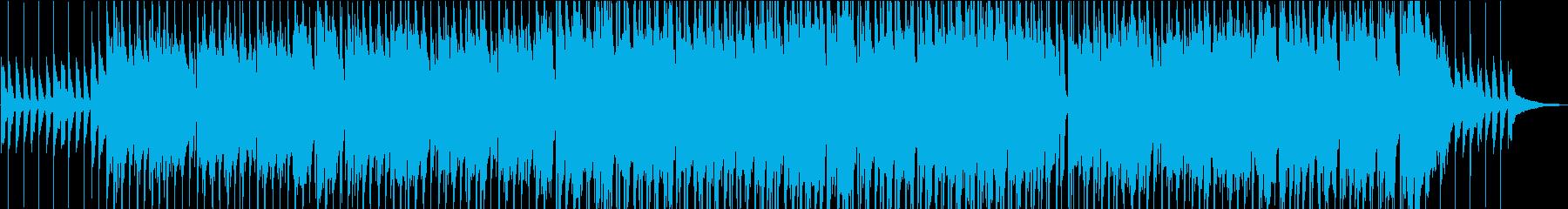 明るい雰囲気のポップスの再生済みの波形