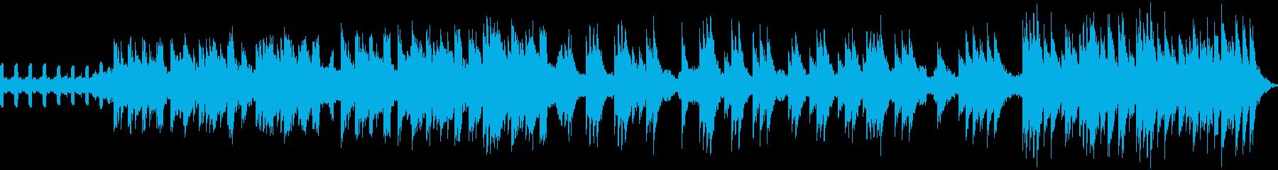 冬向けのやさしいBGMの再生済みの波形