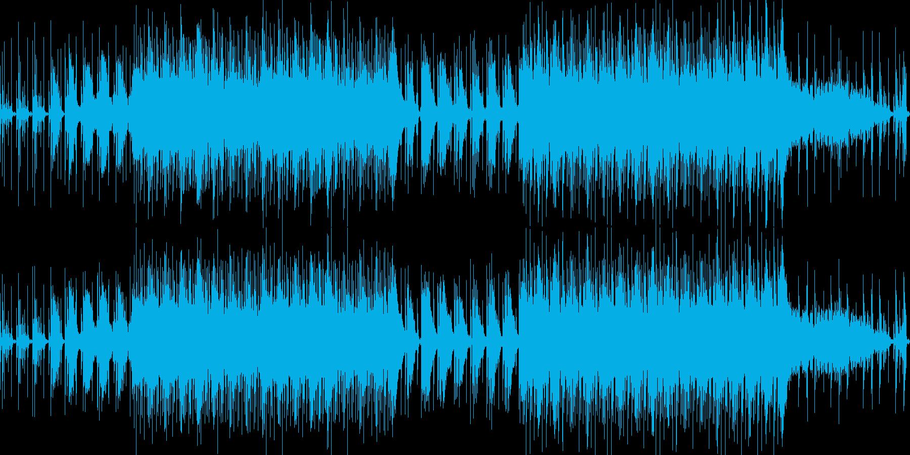 ハウス音楽で落ち着いた雰囲気のBGMの再生済みの波形