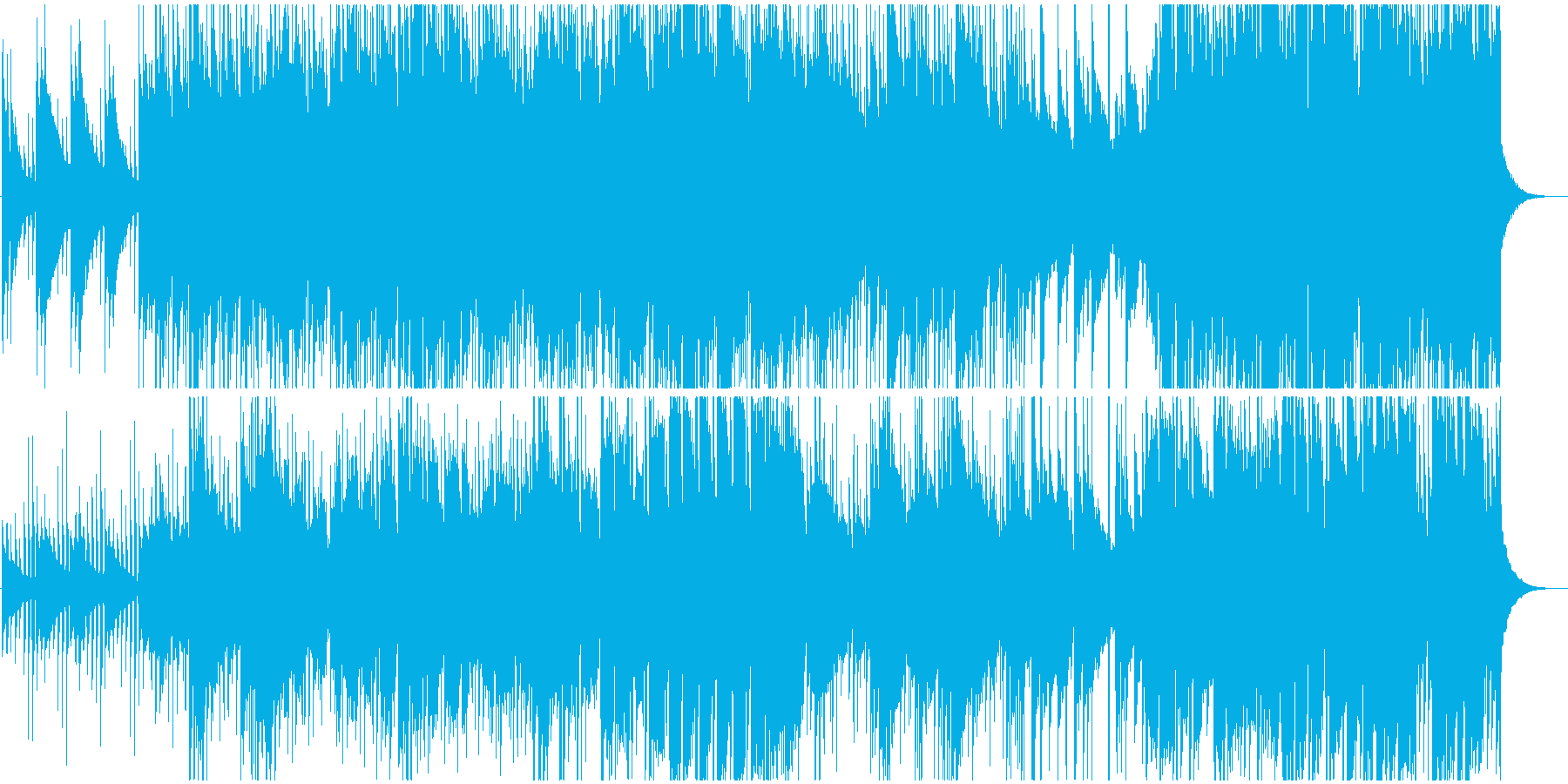 哀愁感のあるアコースティックギター・口笛の再生済みの波形