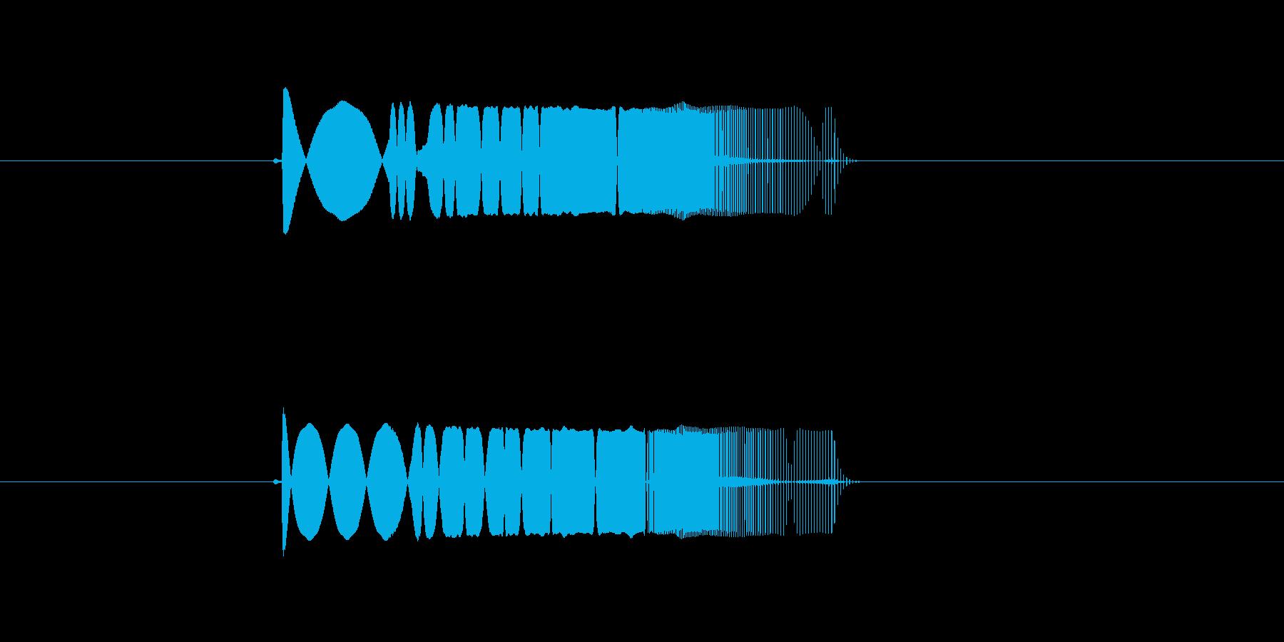 キューン (ビームの発射音)の再生済みの波形
