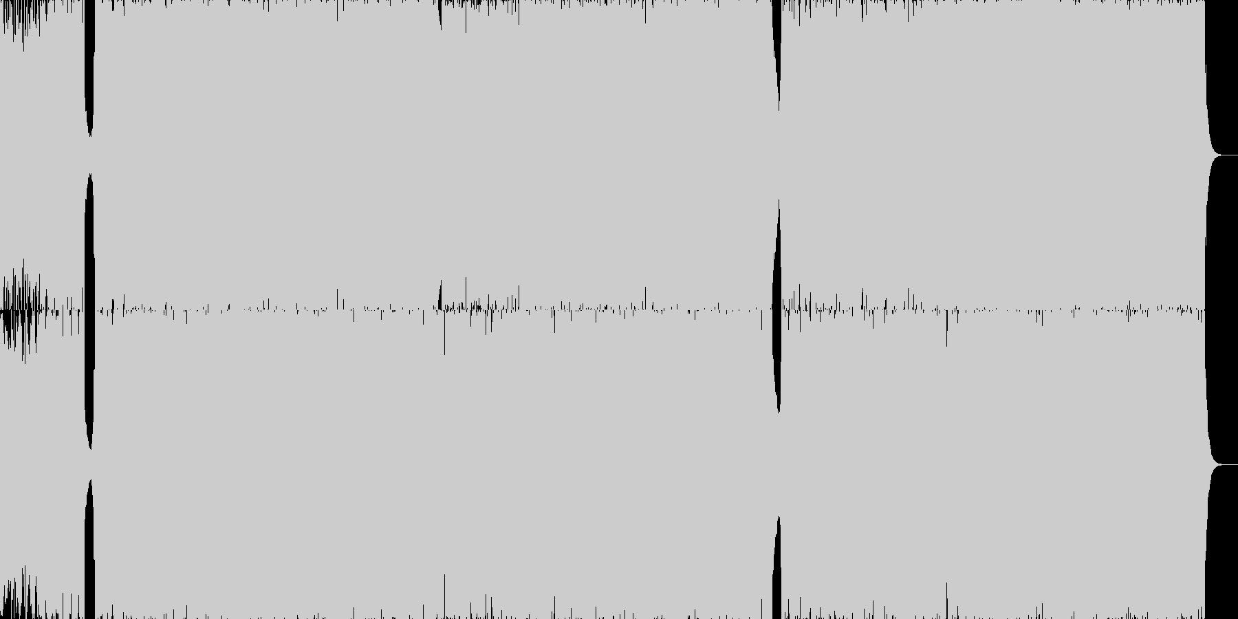 光彩と雨粒の都会的アートコア■ループ版有の未再生の波形