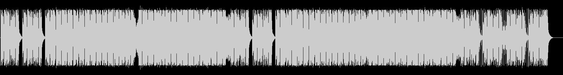 エネルギー溢れるテクノBGMの未再生の波形