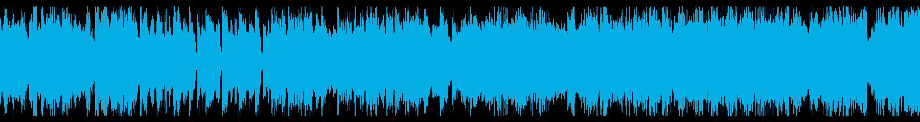 ループ素材 軽快なチップチューンの再生済みの波形
