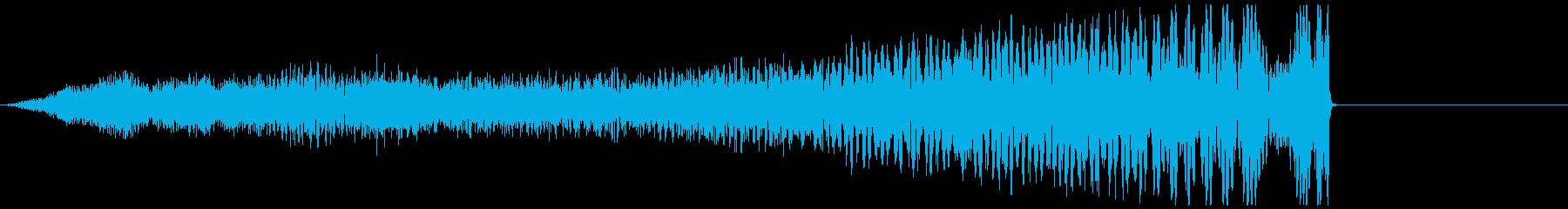 【ホラー】気味悪い殺気 ヒューッの再生済みの波形