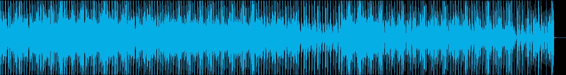 ハウス系ビートの再生済みの波形