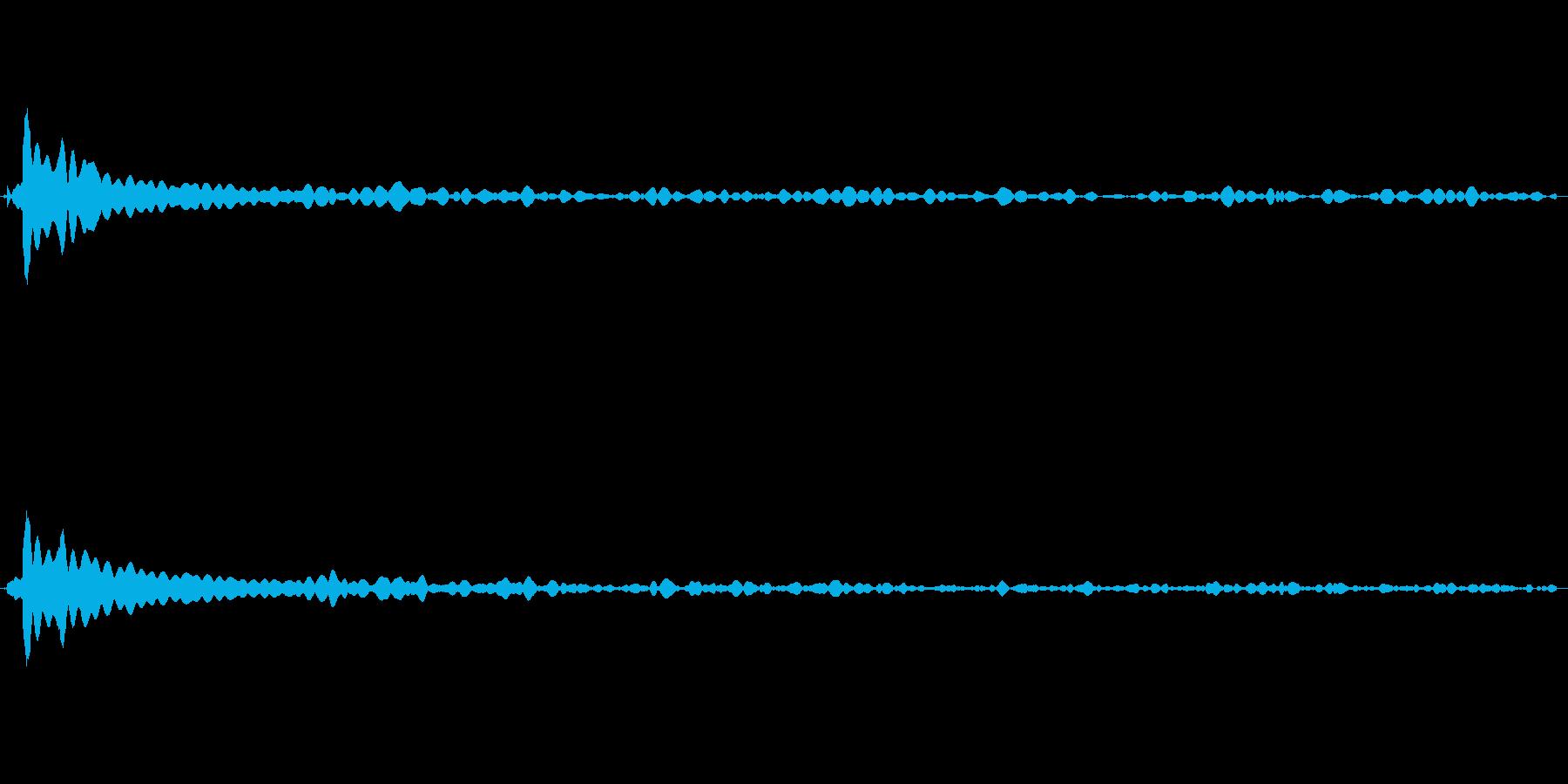 風鈴の音の再生済みの波形