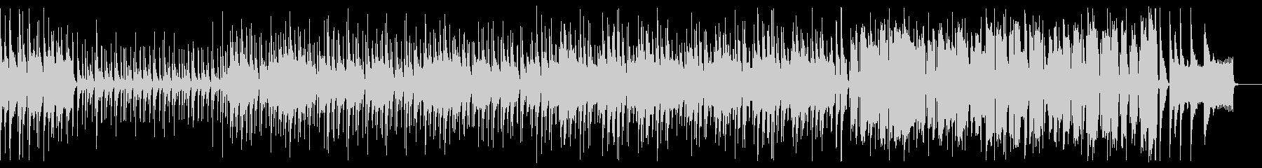 三味線と笛の浮かれたムードの和風曲の未再生の波形