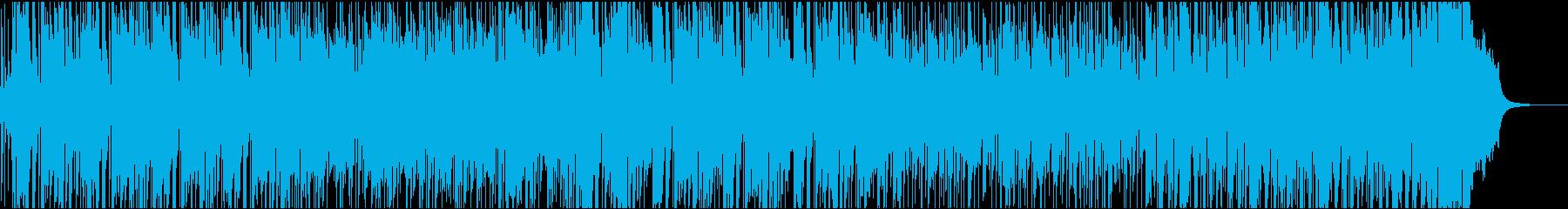 元気なアコギのポジティブな曲の再生済みの波形