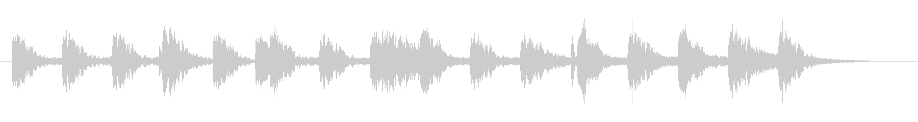 Mysterious and fantastic jingle's unreproduced waveform