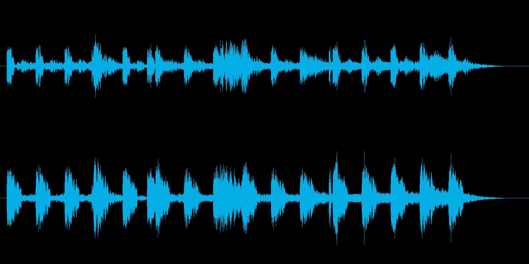 神秘的で幻想的なジングルの再生済みの波形