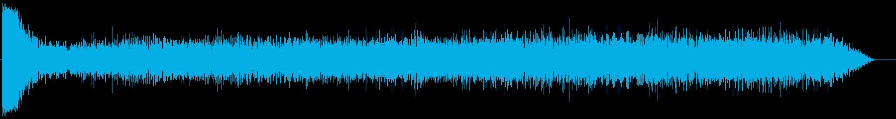車の爆発の再生済みの波形