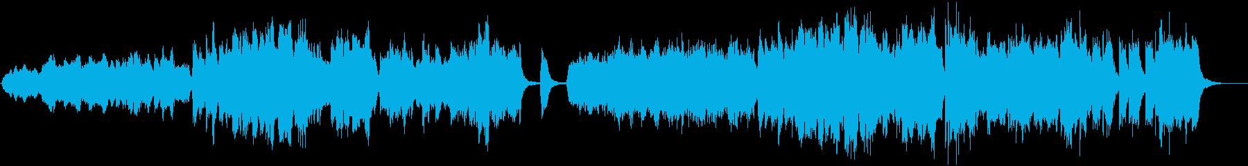 木管楽器が主体の牧歌的なBGMの再生済みの波形