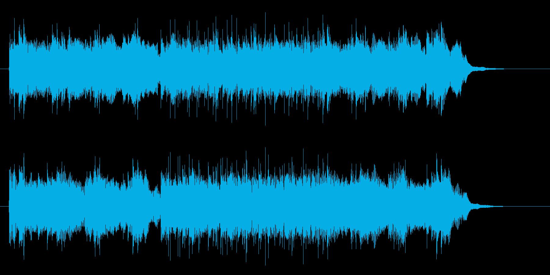 重低音の効いたギタービートの再生済みの波形