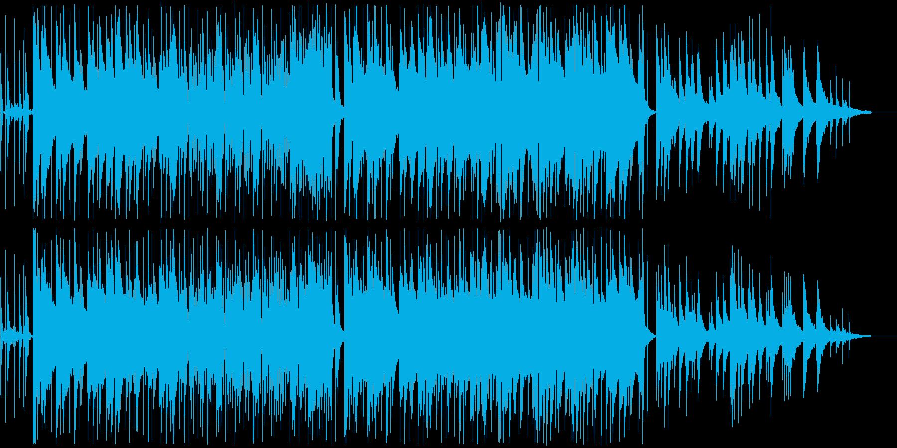 ピアノが中心の落ち着いたR&Bの再生済みの波形