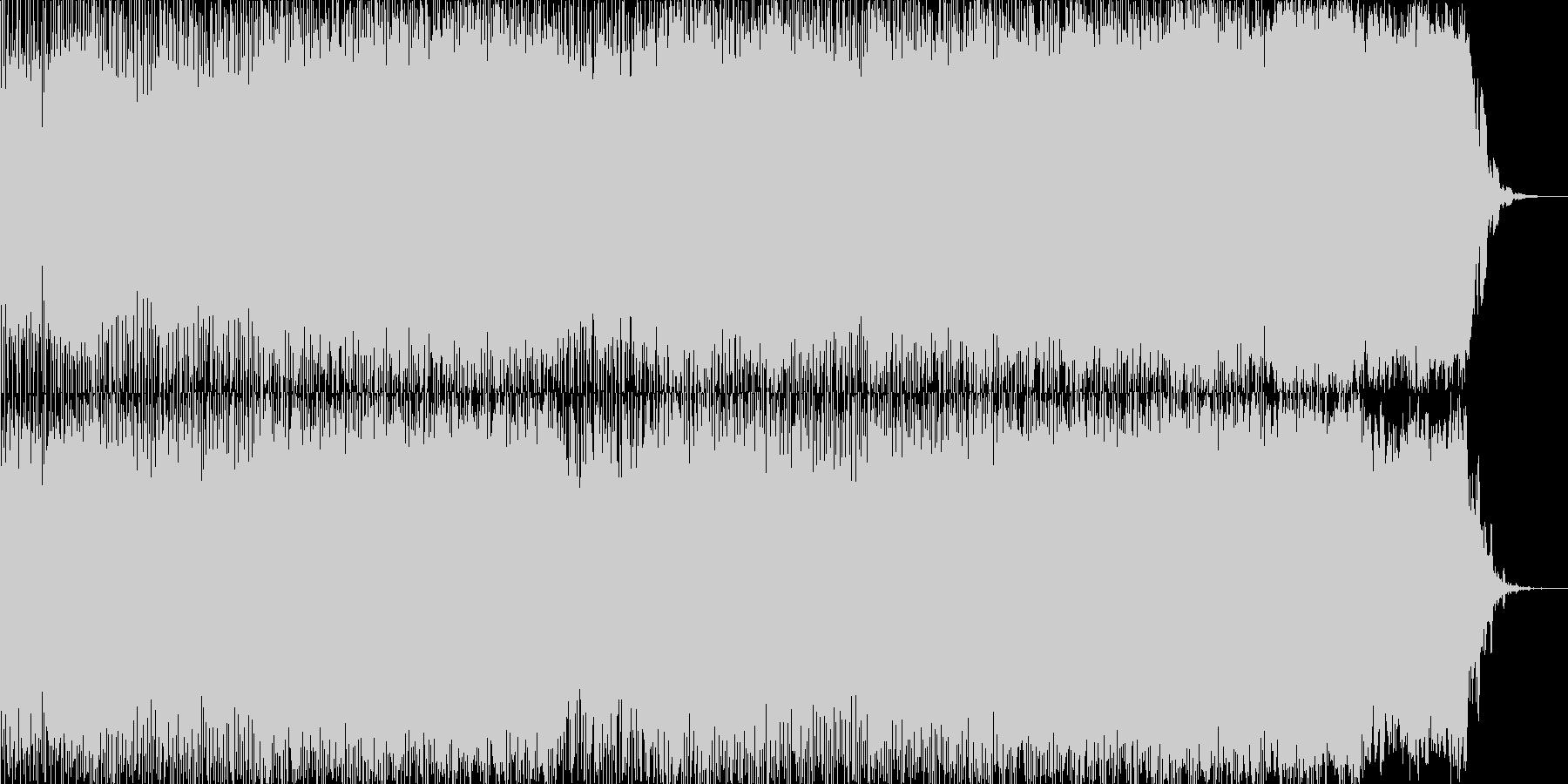 繰り返しのアルペジオがメインです。の未再生の波形