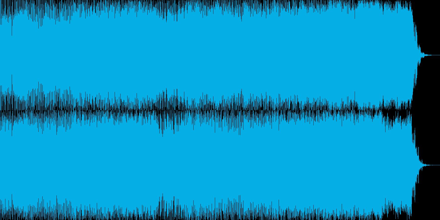 繰り返しのアルペジオがメインです。の再生済みの波形