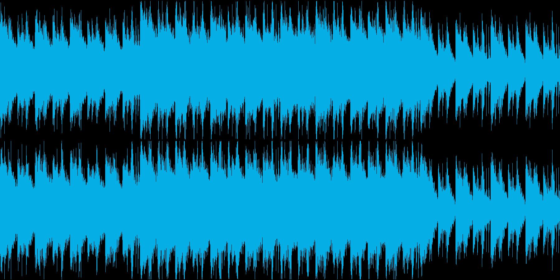 哀愁を帯びた悪役の登場シーンの曲の再生済みの波形
