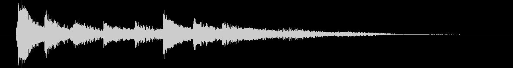 ピアノ転回音9の未再生の波形
