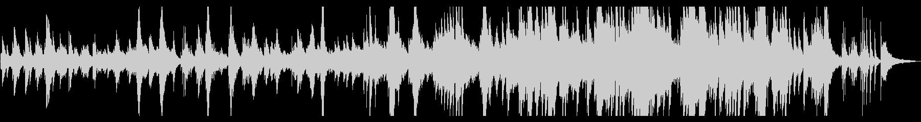 映像・ムービー 明るく感動的なピアノソロの未再生の波形