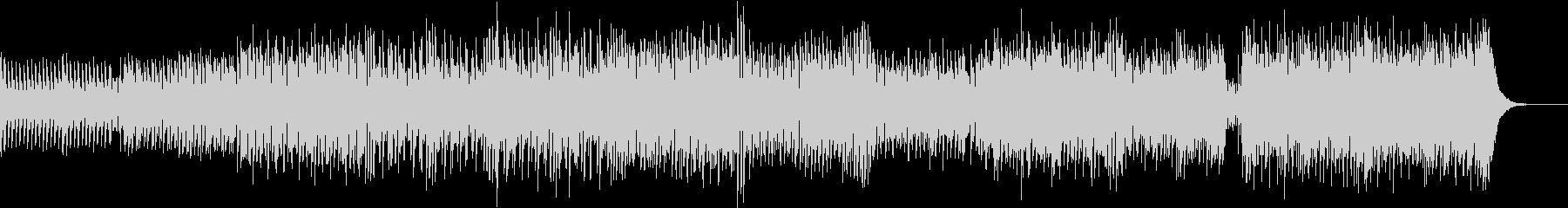 曲調が変化するカラフルなテクノポップの未再生の波形
