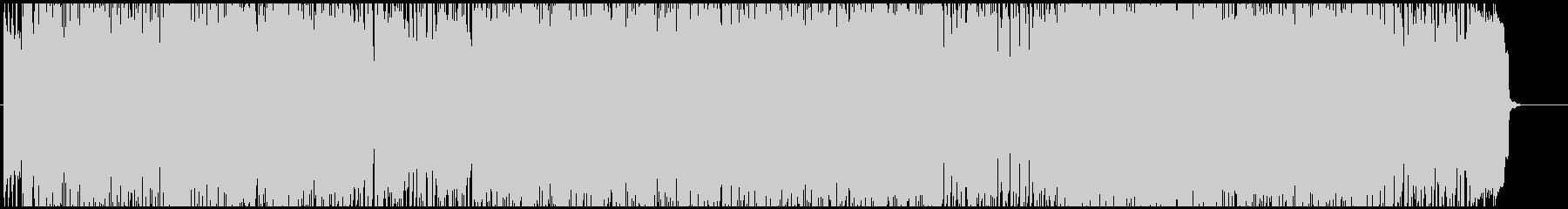 南国風アップテンポのサーフギターポップの未再生の波形