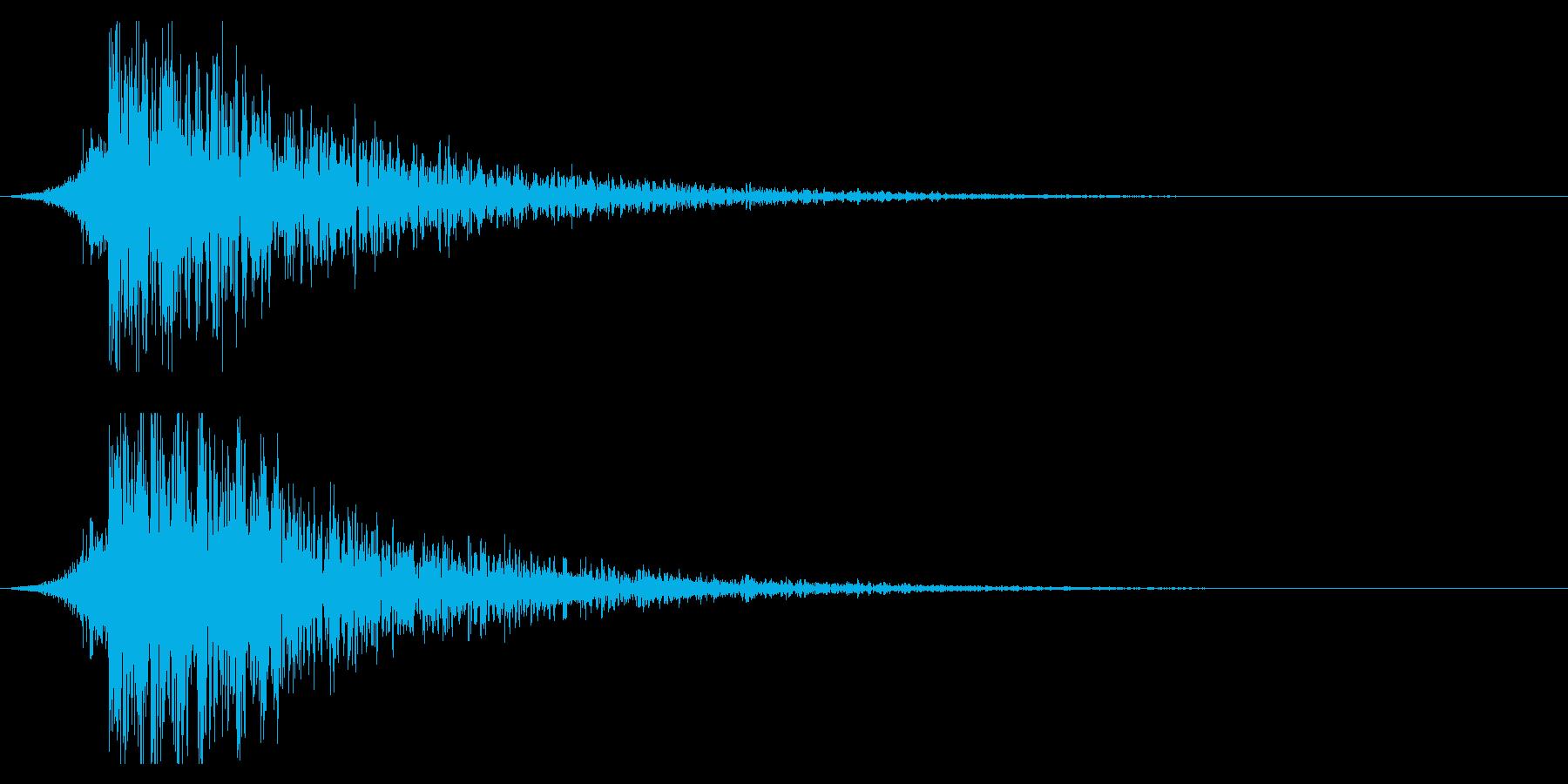 シュードーン-20-1(インパクト音)の再生済みの波形