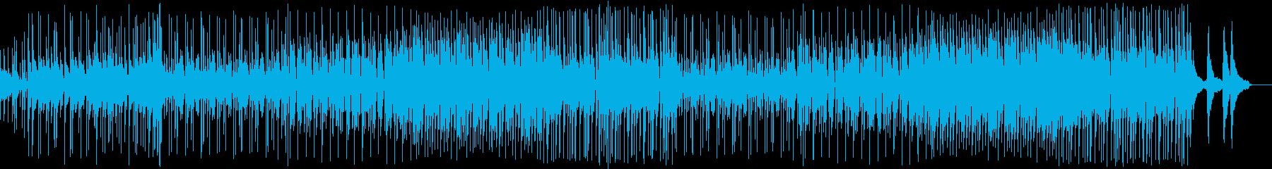 ドラム、エレキギターの和風ロックの再生済みの波形