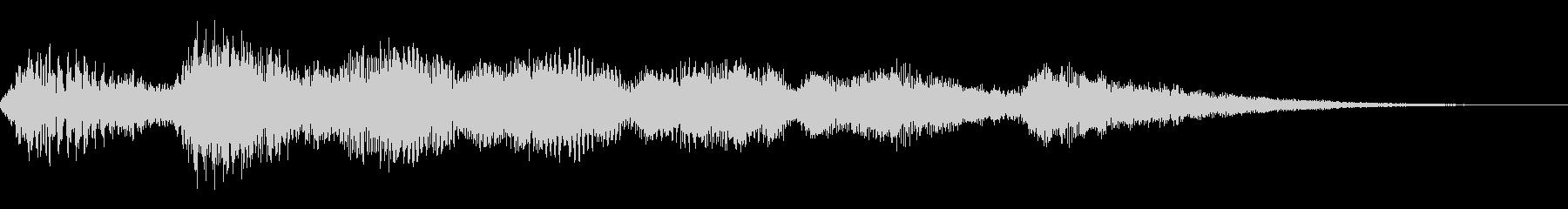 ハープの回復音の未再生の波形