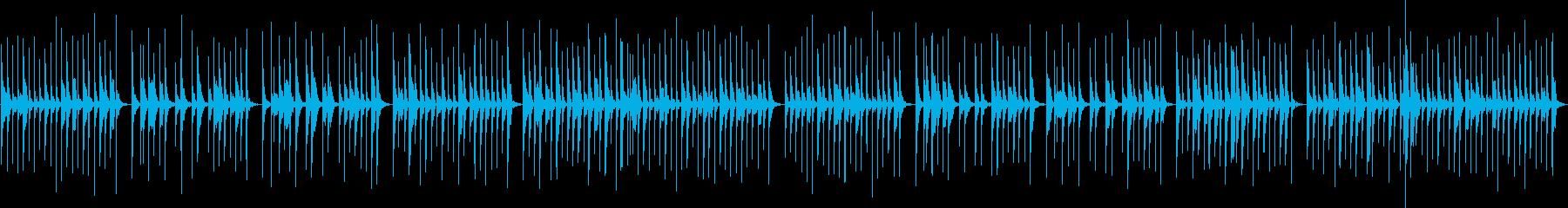 笛とカリンバのオーガニックな雰囲気の再生済みの波形