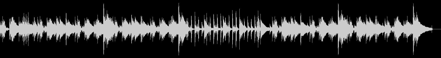 アコギ・ピアノのゆったり目BGMの未再生の波形