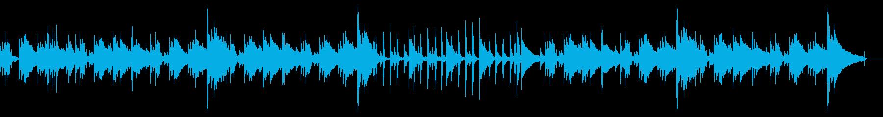 アコギ・ピアノのゆったり目BGMの再生済みの波形