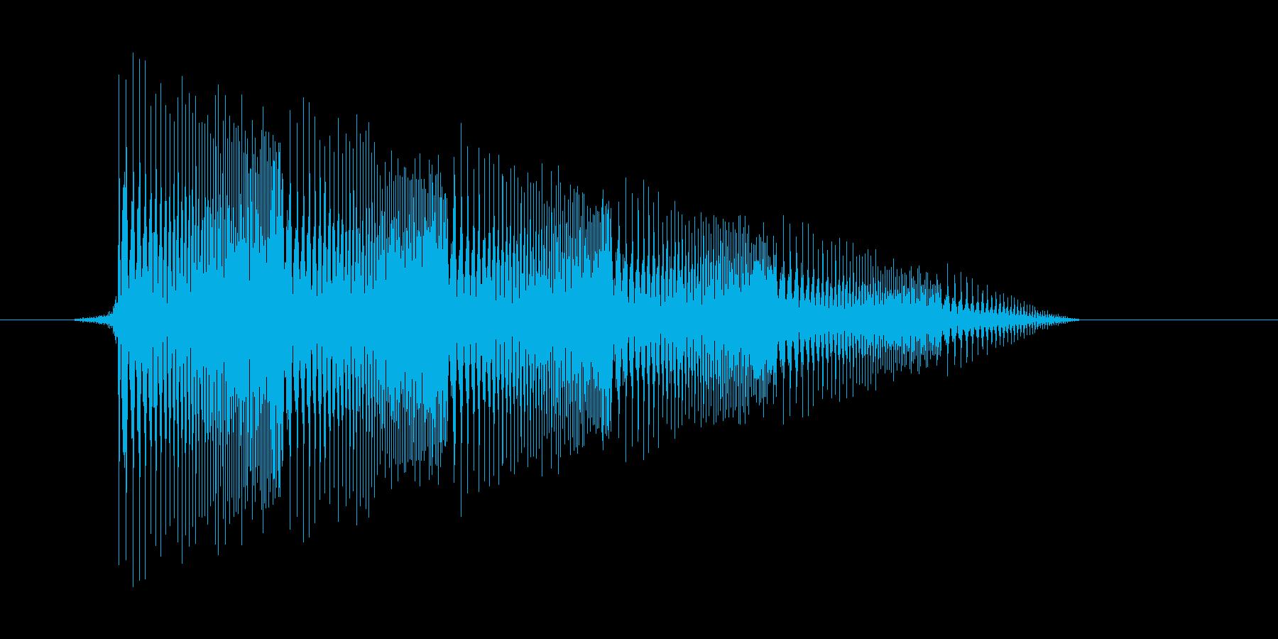 パワーアップ音の再生済みの波形
