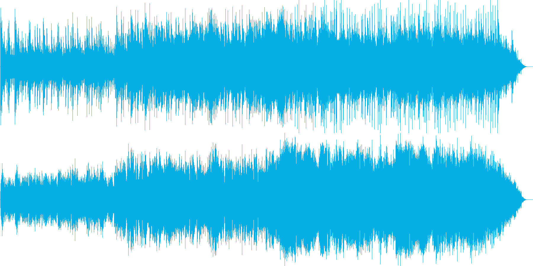 透明感のあるウエディングBGMの再生済みの波形