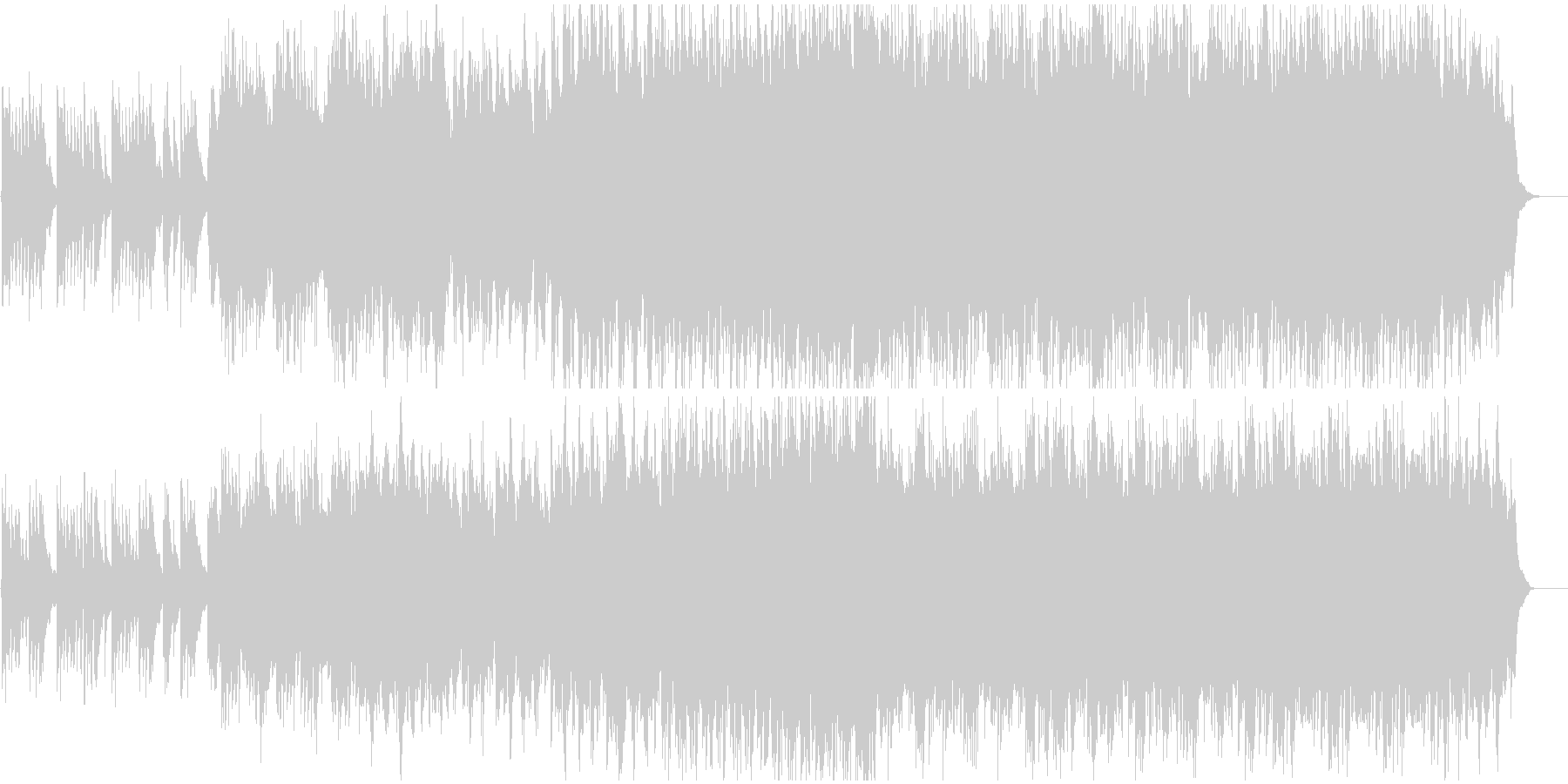 切なくも力強いピアノ曲の未再生の波形