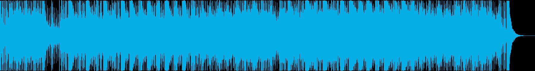 スパイアクションのテーマ曲風の再生済みの波形