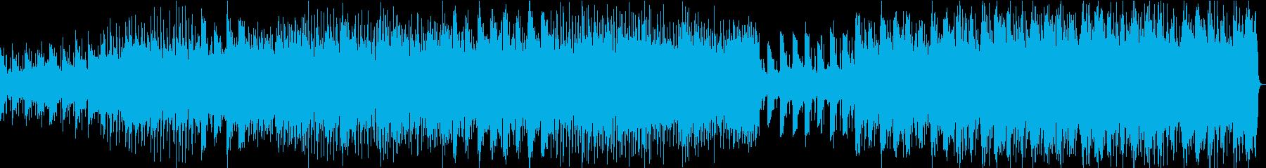 煌びやかで爽やかなアンビエント楽曲の再生済みの波形