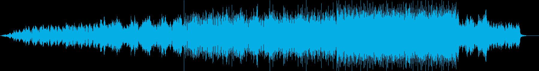 無機質で恐ろしいエレクトロニカの再生済みの波形